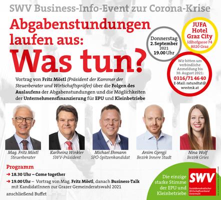 SWV Business-Info-Event zur Corona-Krise