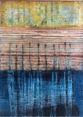 Wasserstück, Öl auf Leinwand, 2016, 140x100cm