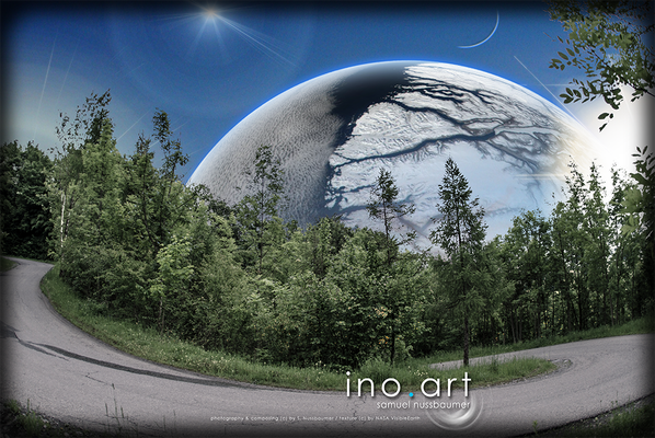 Fotografiert in Walenstadt (CH) ; photography & composing (c) by S. Nussbaumer / textures (c) by NASA VisibleEarth