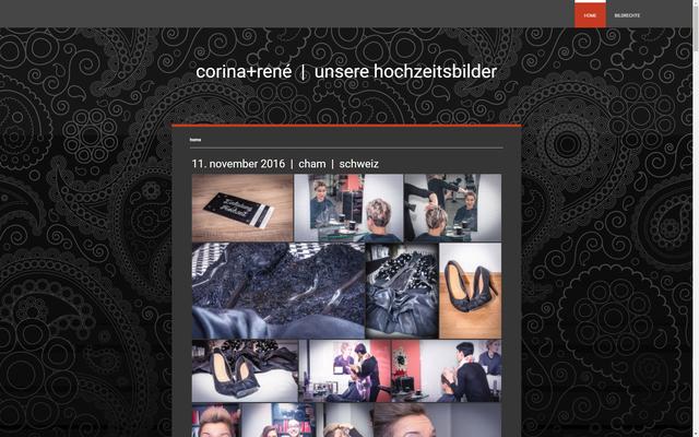 Website für die Hochzeitsbilder von Corina + René (corina-und-rene.jimdo.com)