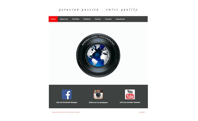 Website eines Fotografen (www.andreasbeerliphotography.com)