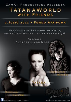 Plakat für eine Partyserie in Peru
