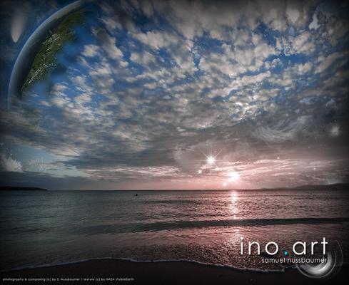 Fotografiert in Arenal de Mallorca (ESP) ; photography & composing (c) by S. Nussbaumer / textures (c) by NASA VisibleEarth