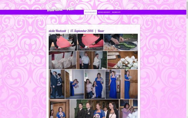 Website für die Hochzeitsbilder von Marlene + Reto (marlene-und-reto.jimdo.com)