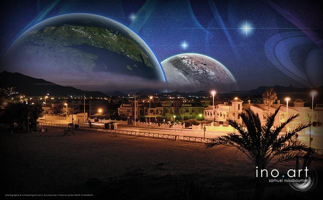 Fotografiert in Puerto de Mazzaron (ESP) ; photography & composing (c) by S. Nussbaumer / textures (c) by NASA VisibleEarth