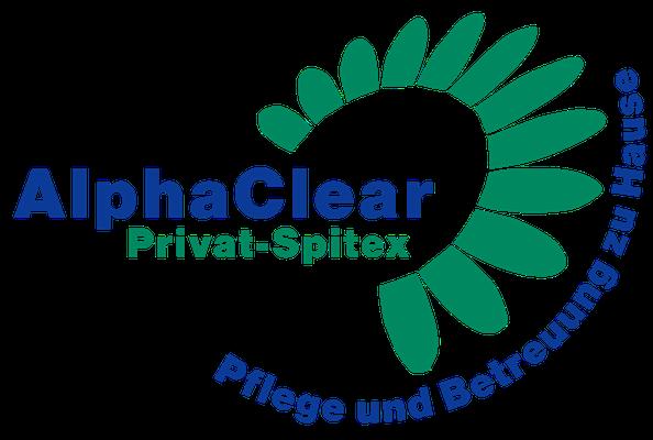 Logo für ein privates Pflege-Unternehmen (www.alphaclear.ch)