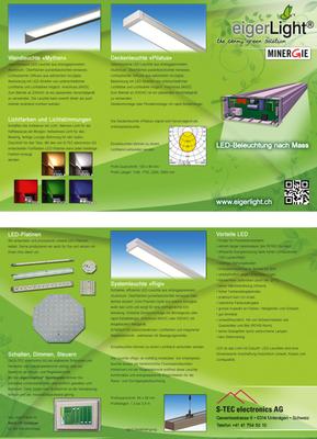 zweiseitiges Produktfaltblatt (im Auftrag meines Arbeitgebers)