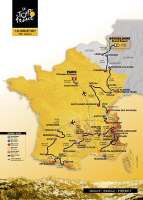 Carte Tour de France 2017 Parcours