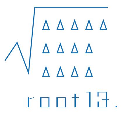 バンド「root13.」ロゴ