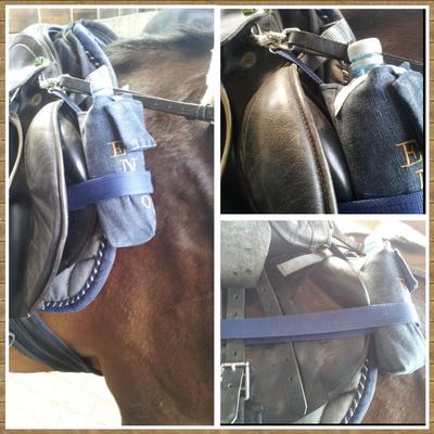 Flaschenhalterung für den Pferdesattel