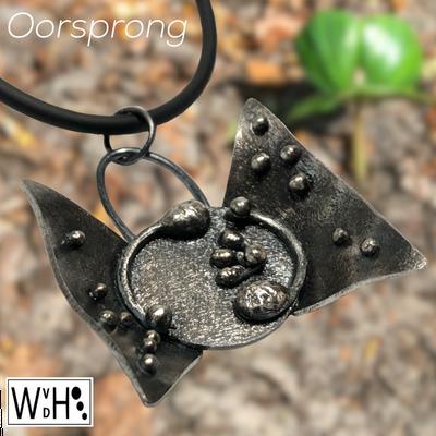 Wilma van den Hoek Hanger oorsprong zilver maassluis