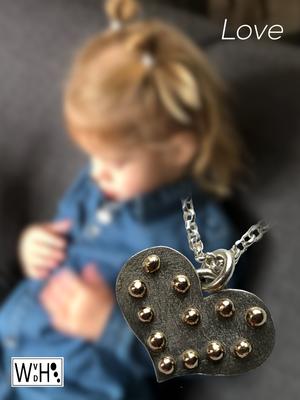 Edelsmid Wilma van den Hoek Hanger 'Joy' zilver en goud