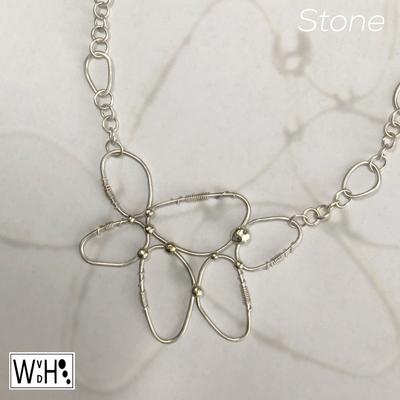 Edelsmid Wilma van den Hoek Stone zilver ketting