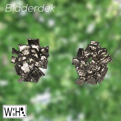 Wilma van den Hoek Edelsmid Maasluis oorbellen bladerdek zilver