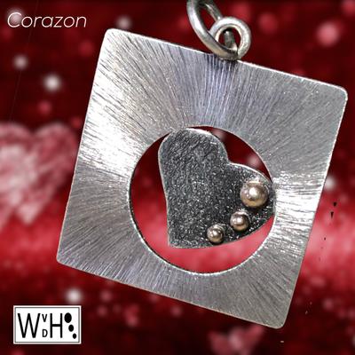 Edelsmid Wilma van den Hoek hanger hart Corazon zilver