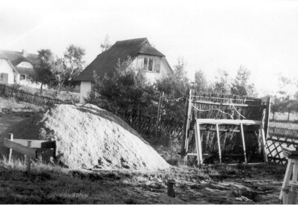 Baubeginn des Ateliers am 15.10.1964
