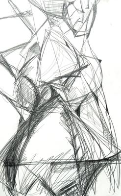 Netzwerk  |  Zeichnung  |  Graphit auf Karton  |  70 x 100  |  2010
