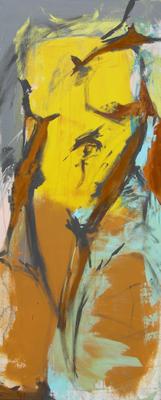 Heben  |  Acryl und Oxidation auf Leinwand  |  50 x 120  |  2008