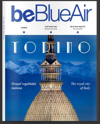 Copertina rivista delle Blue Air, Marzo 2016