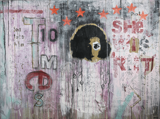 """Ten times she was right"", 125 x 95 cm auf Leinwand"