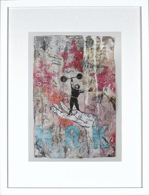"""Here comes Mister K."",  ca. 19 x 27 cm auf Leinwand"