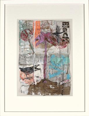 """""""Pink Palm Tree"""", ca. 19 x 27 cm auf Leinwand"""