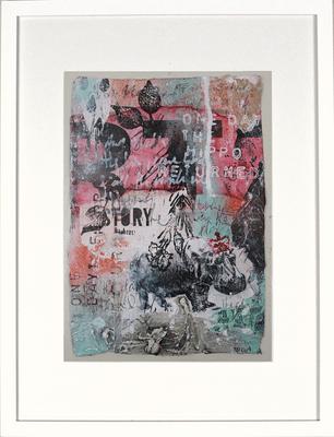 """Return of the Hippo"", ca. 19 x 27 cm auf Leinwand"
