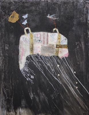 """We carry your treasure home"", 95 x 125 cm auf Leinwand"