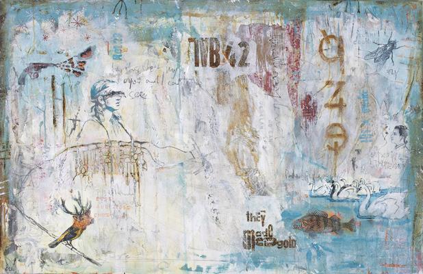 """When summer falls"", 130 x 85 cm auf Leinwand"