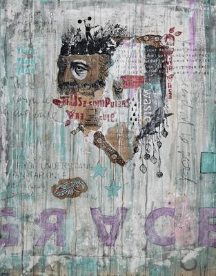"""Grace"", 95 x 125 cm auf Leinand"