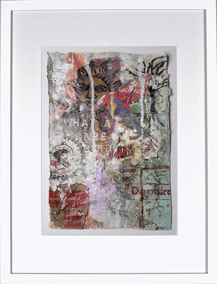 """""""What a rare bird"""", ca. 19 x 27 cm auf Leinwand"""