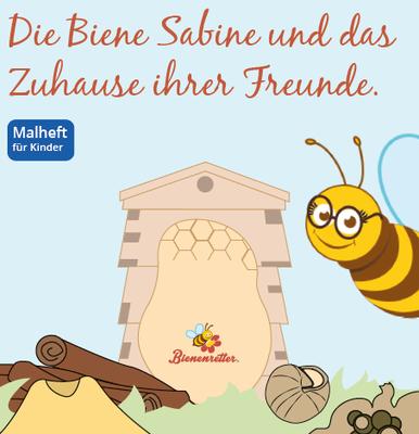 Ausmalheft Biene Sabine und das Zuhause ihrer Freunde