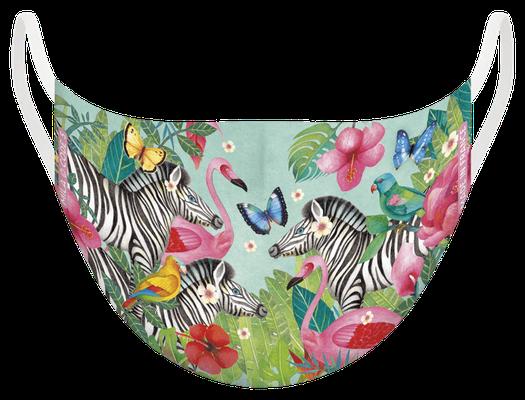 Masque de protection lavable, fabriqué en France, certifié 100 lavages - illustré par Mila