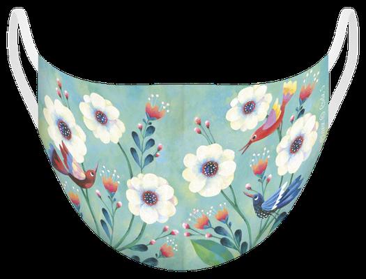 Masque de protection lavable fabriqué en France, illustré par Aurélie BLANZ - certifié  100 lavages - MKM 8 - UNS1