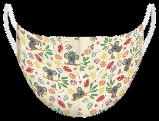 Masque de protection lavable, fabriqué en France, certifié 100 lavages - illustré par Lali