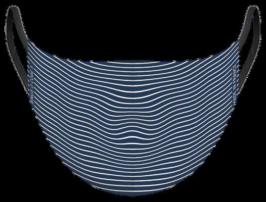 Masque de protection lavable, fabriqué en France, certifié 100 lavages - illustré par Binus