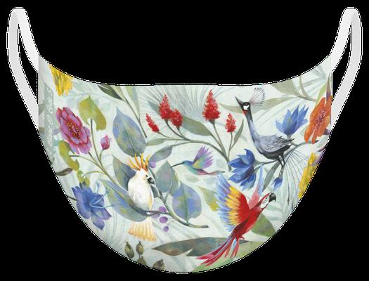 Masque de protection lavable fabriqué en France, illustré par Aurélie BLANZ - certifié  100 lavages - MKM 7 - UNS1