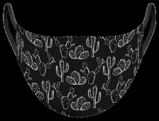 Masque de protection lavable fabriqué en France, illustré par Silowane - certifié  100 lavages - MKM 33 - UNS1