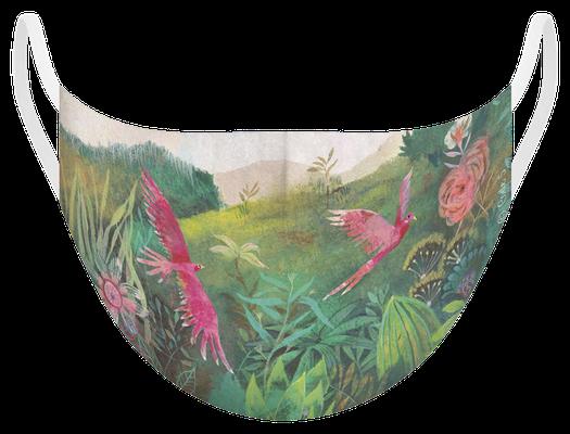 Masque de protection lavable fabriqué en France, illustré par Izou - certifié  100 lavages - MKM2 - UNS1
