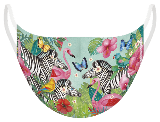 Masques de protection lavable, certifié 100 lavages, fabriqué en France - illustré par Mila
