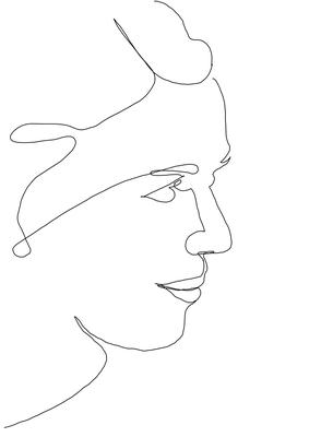 One Line Portrait Woman