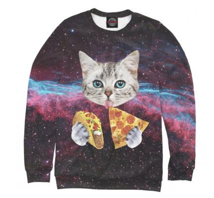 Свитшот  Коты в космосе