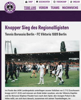 - 25.05.2019 - Knapper Sieg des Regionalligisten | Tennis Borussia Berlin - FC Viktoria 1889 Berlin