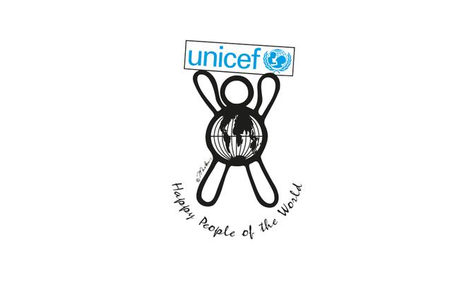 Happy people 4 unicef - logo ontwerp