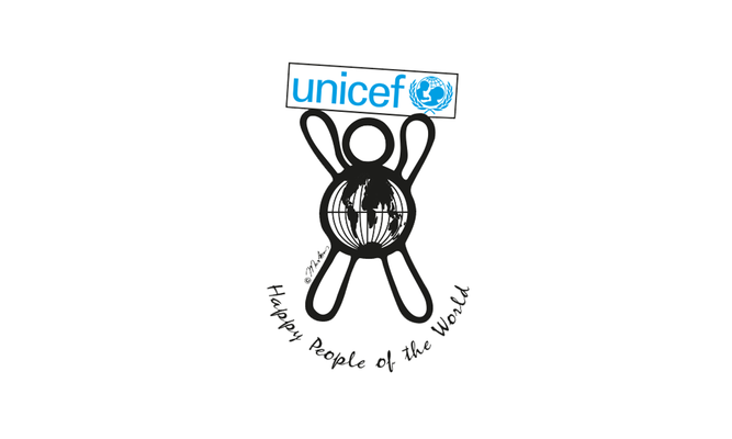 Happy people 4 unicef - logo ontwerp