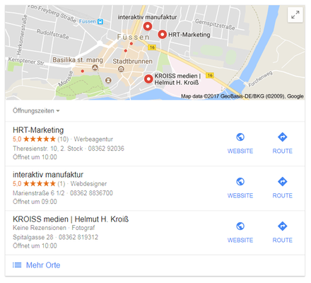 Ihre Firma in Google Maps