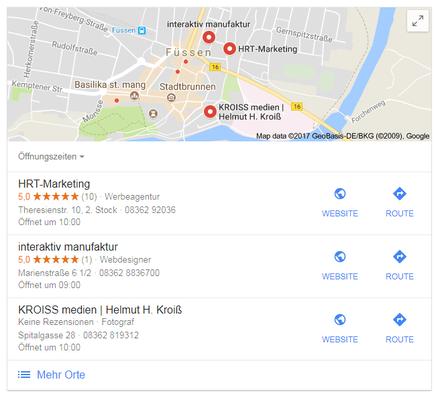 Ihre Firma in Google Maps