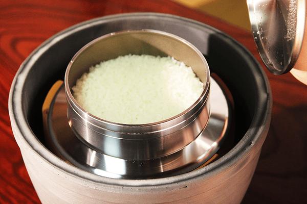 小田式ミニ蒸しかまど大・いぶし・美味しく炊けた!