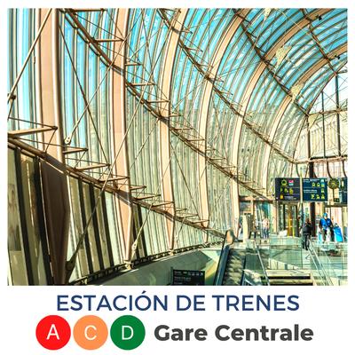 Estación de trenes · Gare centrale