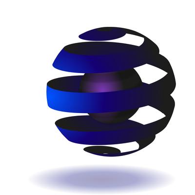 Logo sphère creuse
